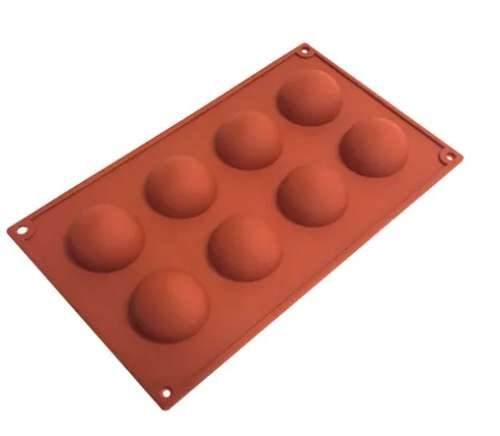 Silicone Hemisphere Mould - 8 Cup