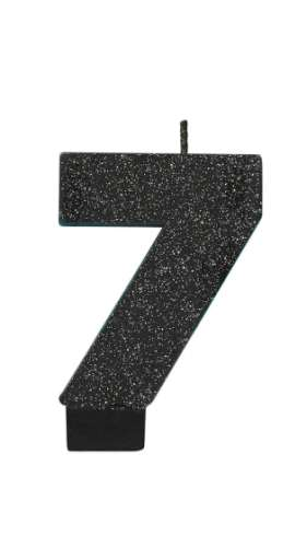Sparkly Black Candle - No 7