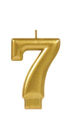 Metallic Gold Candle - No 7