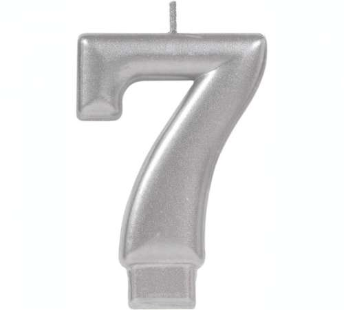 Metallic Silver Candle - No 7