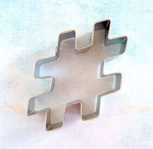 # Hash Tag Cookie Cutter