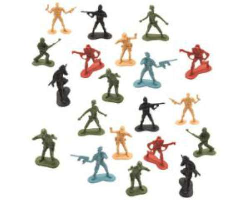 Army Men Cake Toppers - 20 pk