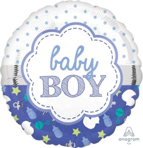 Boy Baby Shower Foil Balloon