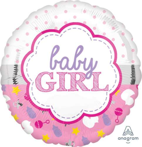 Baby Girl Shower Foil Balloon