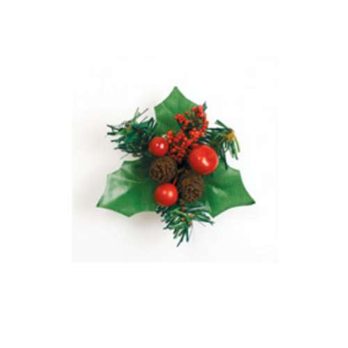 Christmas Berry and Pinecone Cake Topper