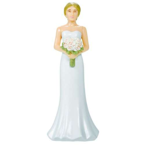 Bride with Bouquet Cake Topper