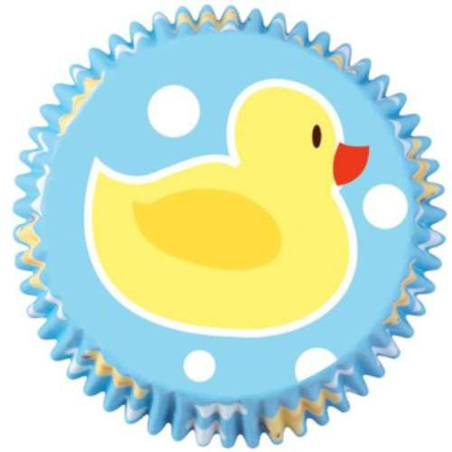 Blue Rubber Ducky Cupcake Papers