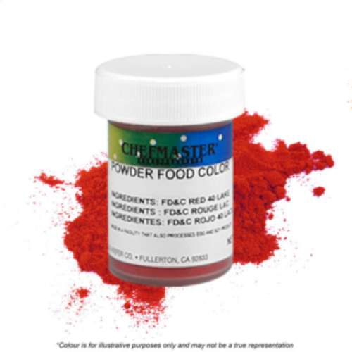 Chefmaster Powder Colour - Red