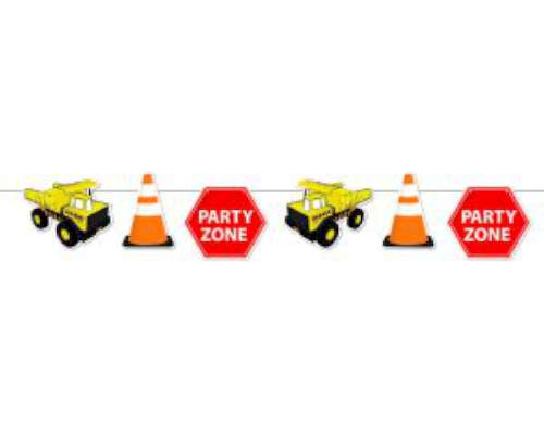 Construction Zone Party Bunting