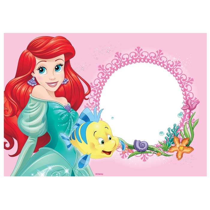 Customised Ariel Little Mermaid Icing Image - A4
