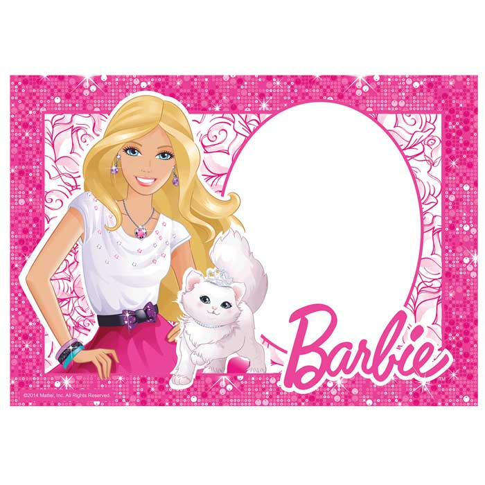 Customised Barbie Icing Image - A4