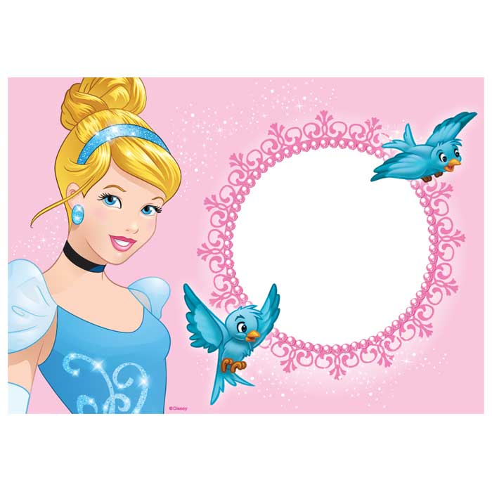 Customised Cinderella Icing Image - A4