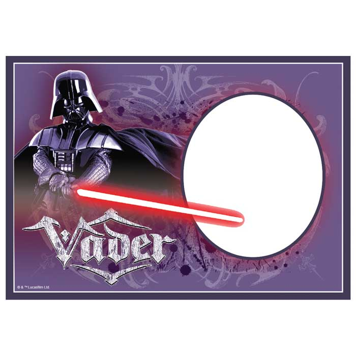 Customised Darth Vader Icing Image - A4