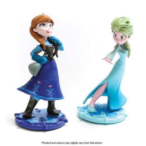 Frozen Elsa and Anna Cake Topper Set