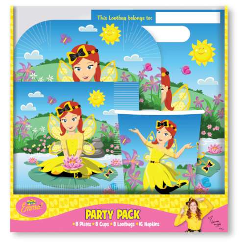 The Wiggles Emma 40 Pc Party Pack