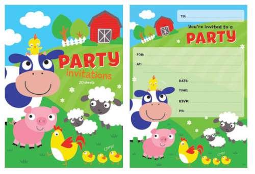 farm invitations