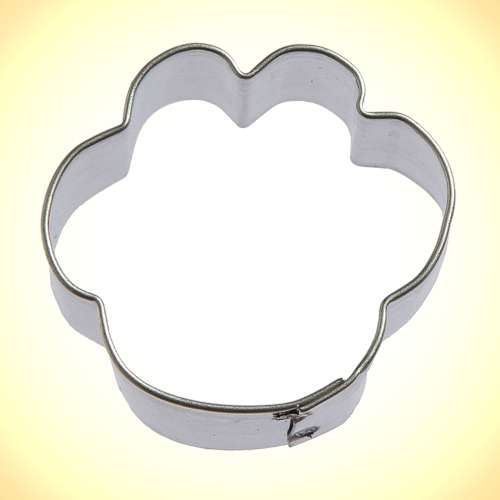 Mini Dog Paw Cookie or Fondant Cutter