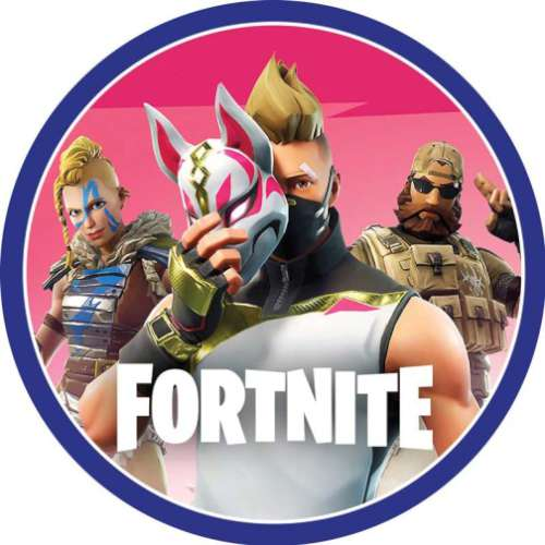 Fortnite Edible Icing Image - Round