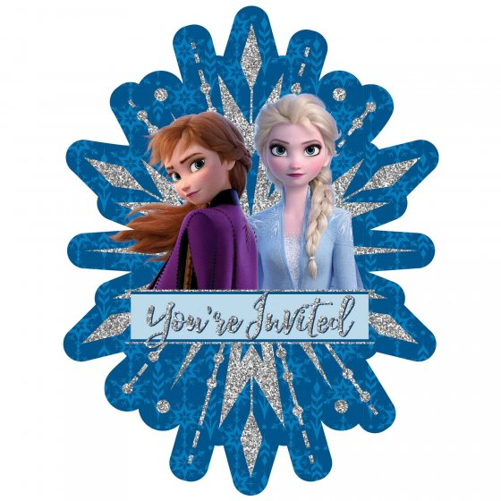 Frozen 2 Deluxe Glitter Invitations