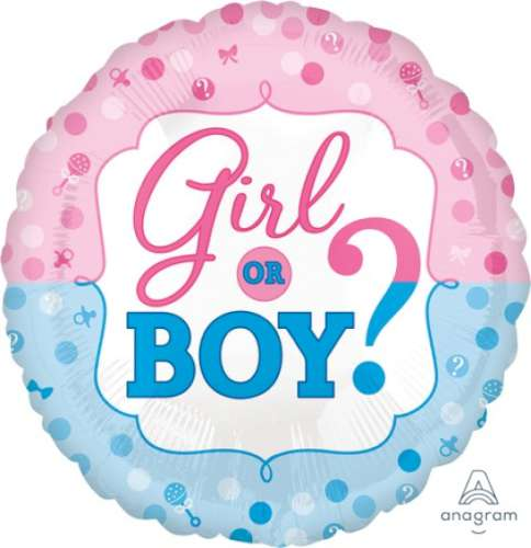Girl or Boy Foil Balloon