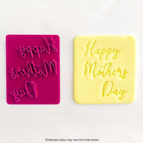 Cookie Embosser and Cutter - Happy Mother's Day
