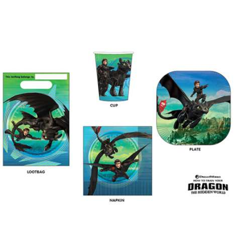 How To Train Your Dragon 40 Pc Party Pack