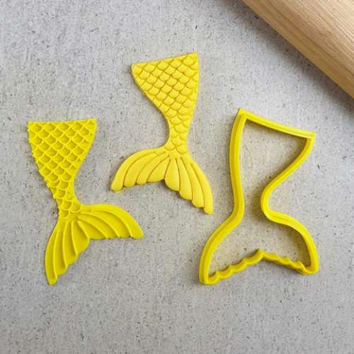 Mermaid Tail Cookie Embosser and Cutter