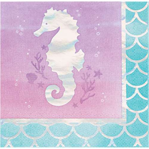 Mermaid Shine Beverage Napkins