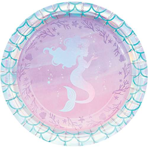 Mermaid Shine Lunch Plates