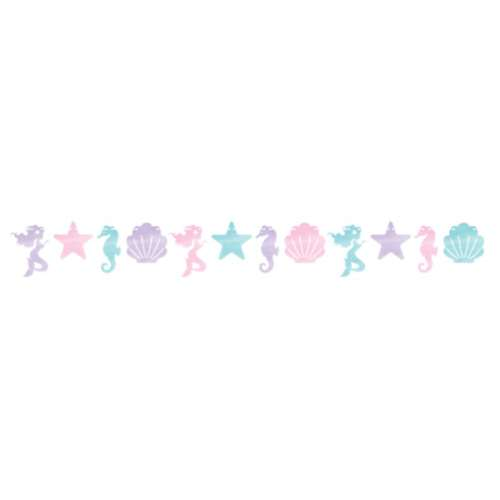 Mermaid Shine Shaped Banner