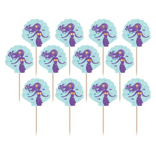 Mermaid Cupcake Picks