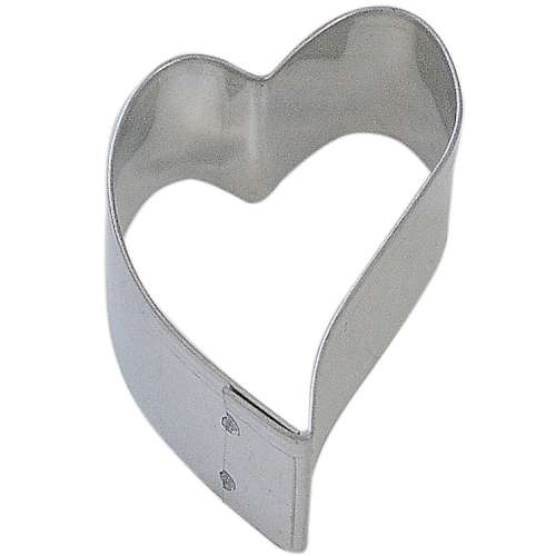Mini Funky Heart Cookie or Fondant Cutter