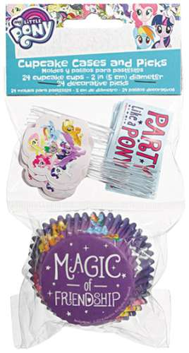 My Little Pony Cupcake Papers and Picks