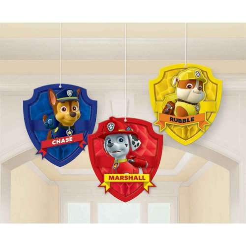 Paw Patrol Honeycomb Decorations