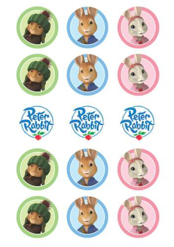 Peter Rabbit Edible Icing Cupcake Images