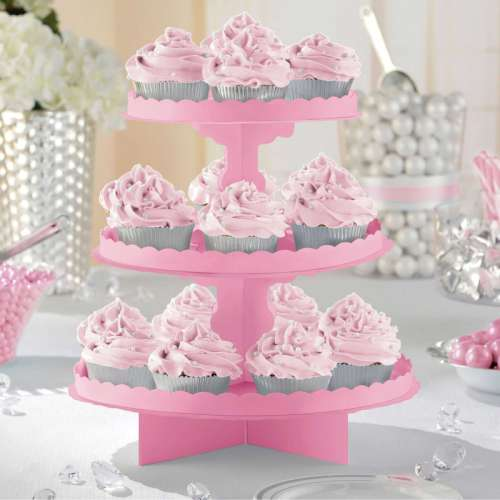 Pink Cupcake or Treat Stand
