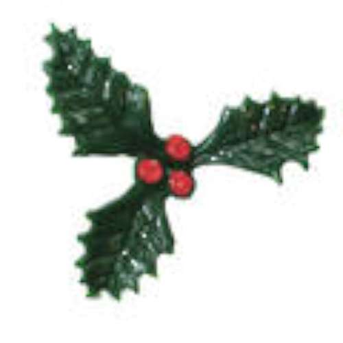 Green Plastic Holly - Med