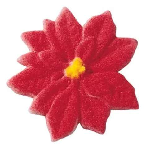 Poinsetta Sugar Decorations