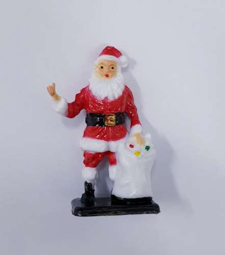 Santa and Toy Sack Christmas Cake Topper