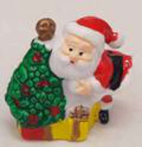 Santa with Christmas Tree Cake Topper