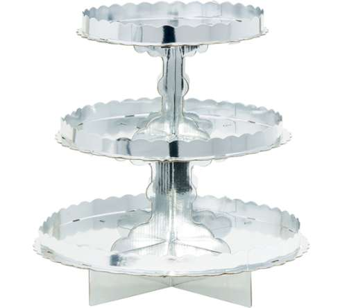 Silver Cupcake or Treat Stand