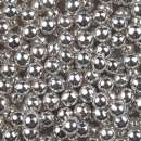 Metallic Silver Sugar Pearls 4mm