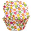 Square Colour Squares Cupcake Papers