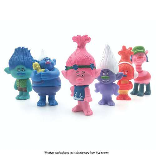 Trolls 6 pc cake Topper Set