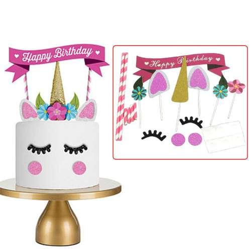 Unicorn Cake Topper Kit