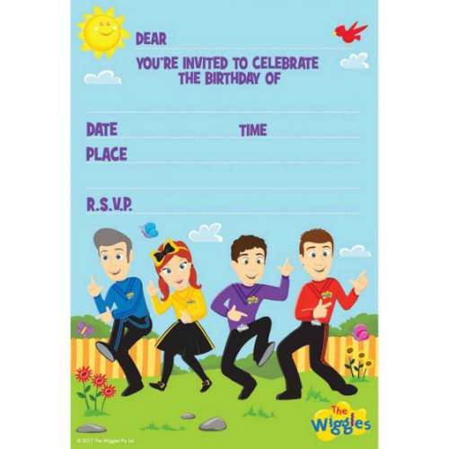 The Wiggles Invitations