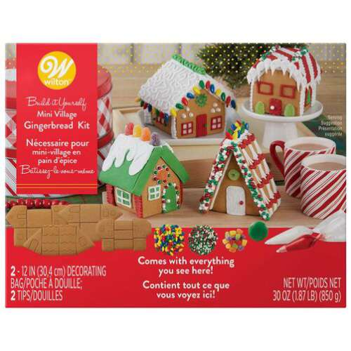 Gingerbread Mini Village Kit