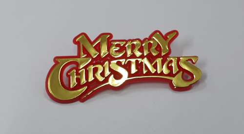 Merry Chistmas Motto - Red and Gold Script