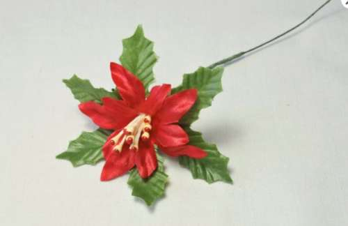 Poinsetta Christmas Cake Topper
